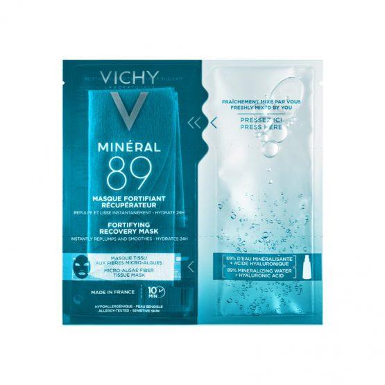 VICHY Minéral 89 Hyaluron-Booster bőrerősítő és regeneráló fátyolmaszk 29 g